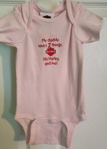 Nwt Harley Davidson 'Two Things Onsie' size 18M